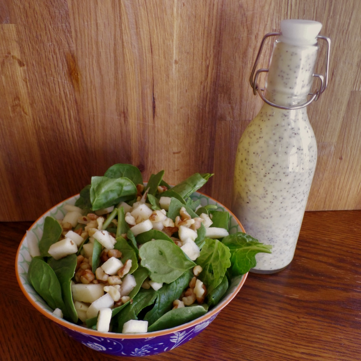Asian pear salad creamy dressing